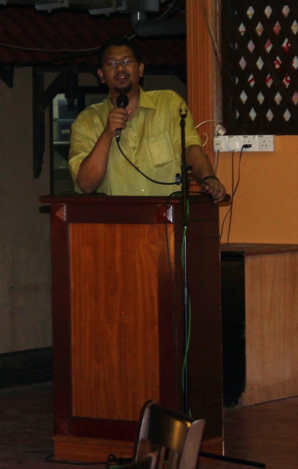 En Ahmad Suhaimi - Guru Besar SKBP menyampaikan Ucapan Aluan