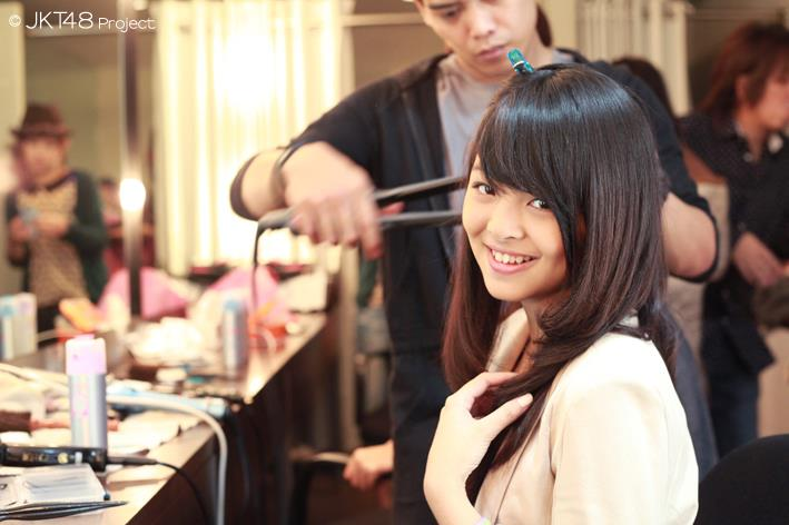 Jeje at JKT48 School backstage