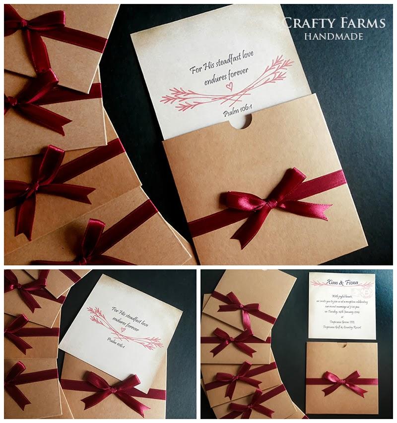 Wedding Card Malaysia | Crafty Farms Handmade : Vintage Kraft Square ...