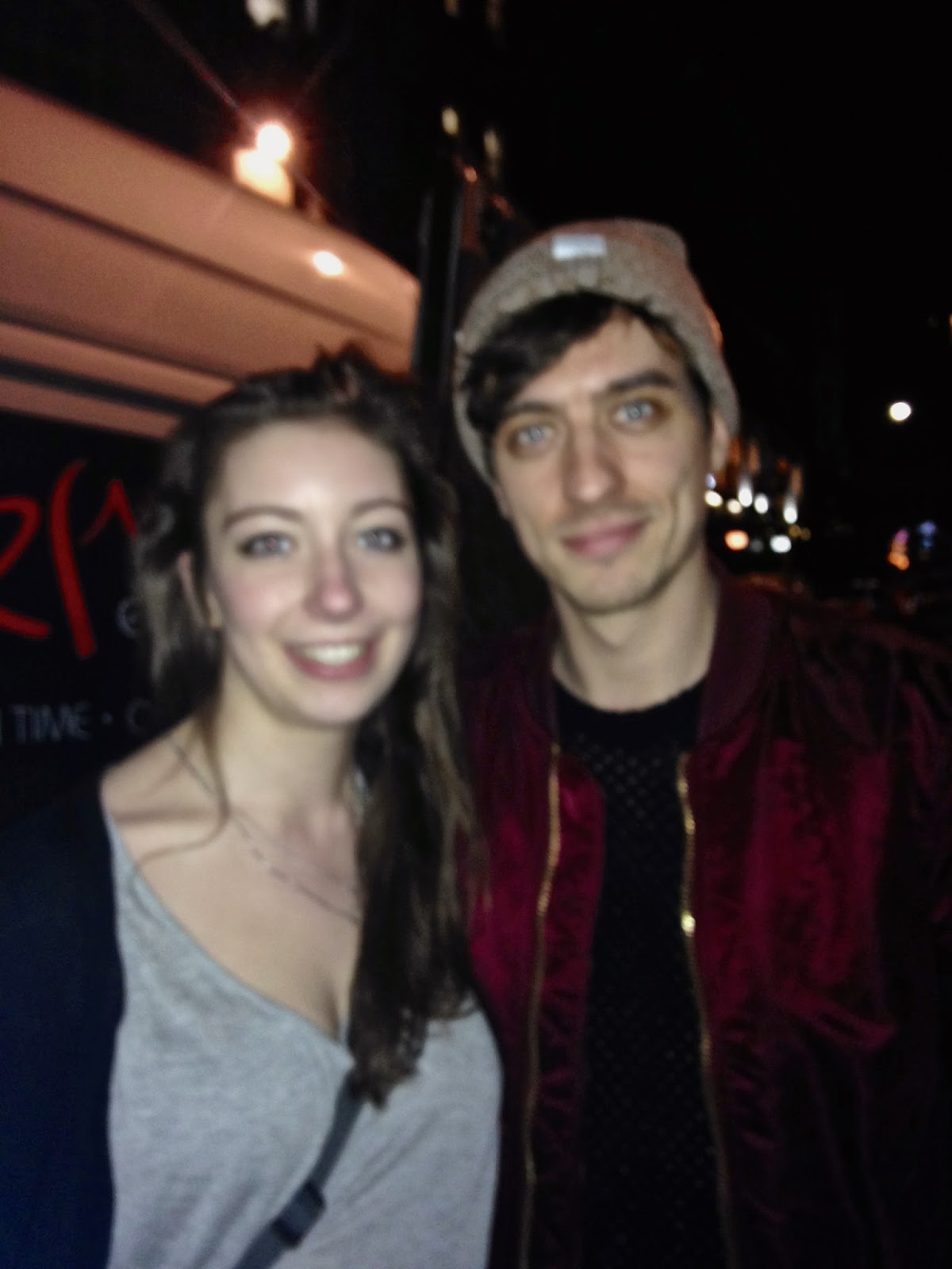 Young Guns concert tour at Electric Circus, Edinburgh | meeting Gustav after the show