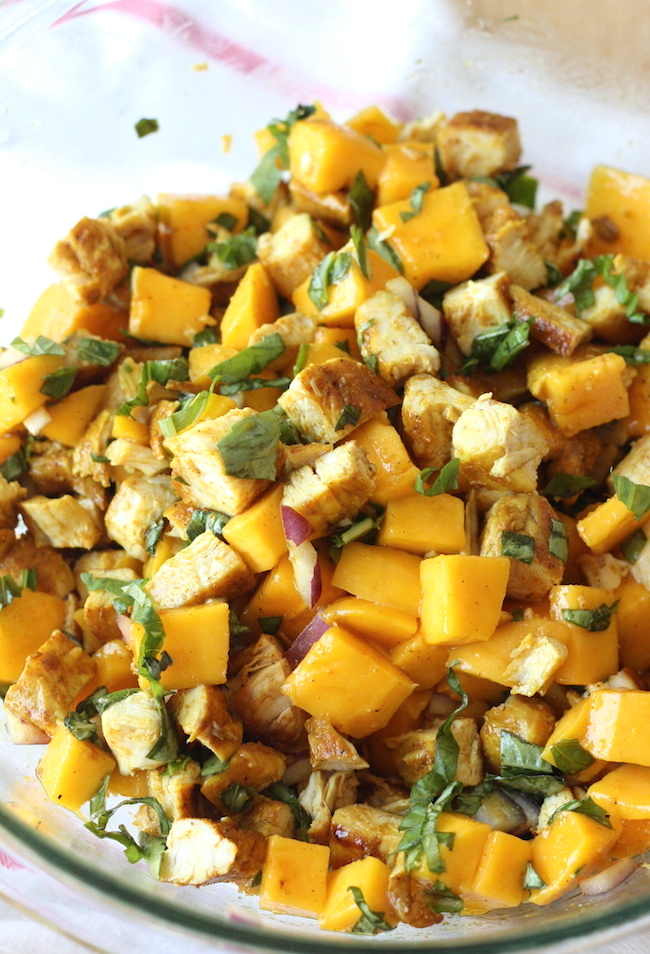 Curried Chicken Salad with Mango by SeasonWithSpice.com