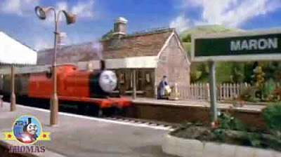 James the splendid engine steamed through Sodor Maron station at full speed a big disaster lay ahead