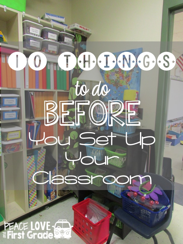 Design Your Classroom ~ Primary chalkboard things to do before you set up your