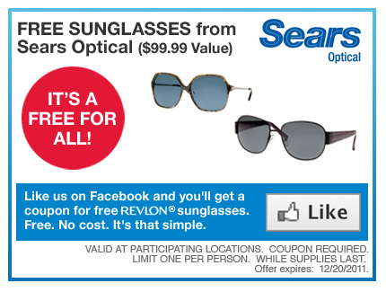sears optical coupon release date price and specs