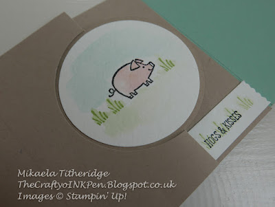 Its Not Just Demonstrators Saying >> The Crafty oINK Pen: Barnyard Babies Mini Album - Keepsake Card