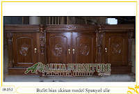 Bufet jati hias ukiran tipe spanyol ulir