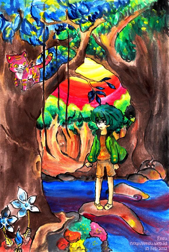 Cheshire Cat by Endang Sudaryani