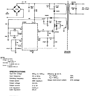 Off line Fly back Regulator Circuit Diagram