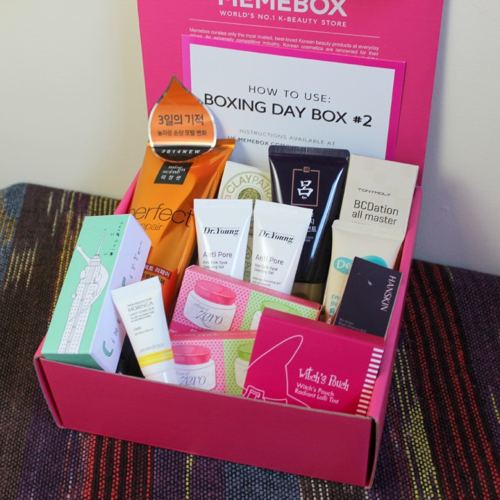 Memebox Global Boxing Day Box #2 review unboxing info card