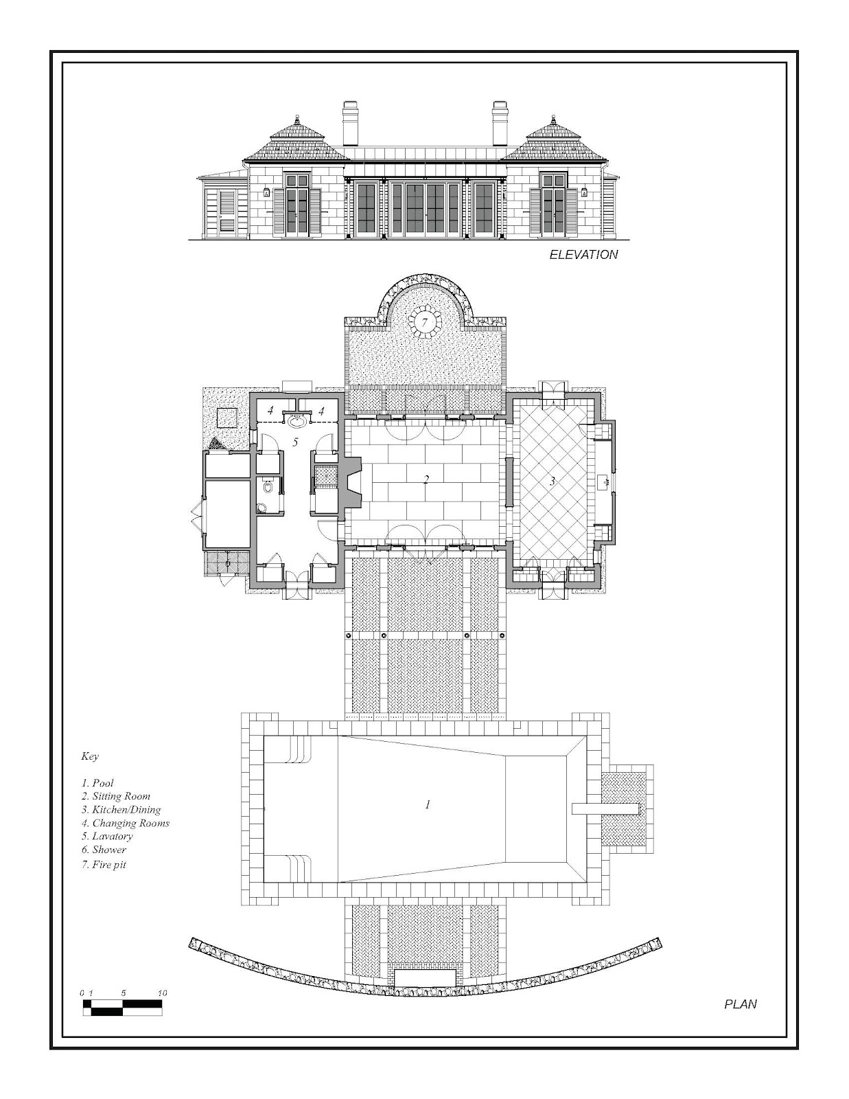 1000 images about floor plans on pinterest vintage for Pool pavilion plans