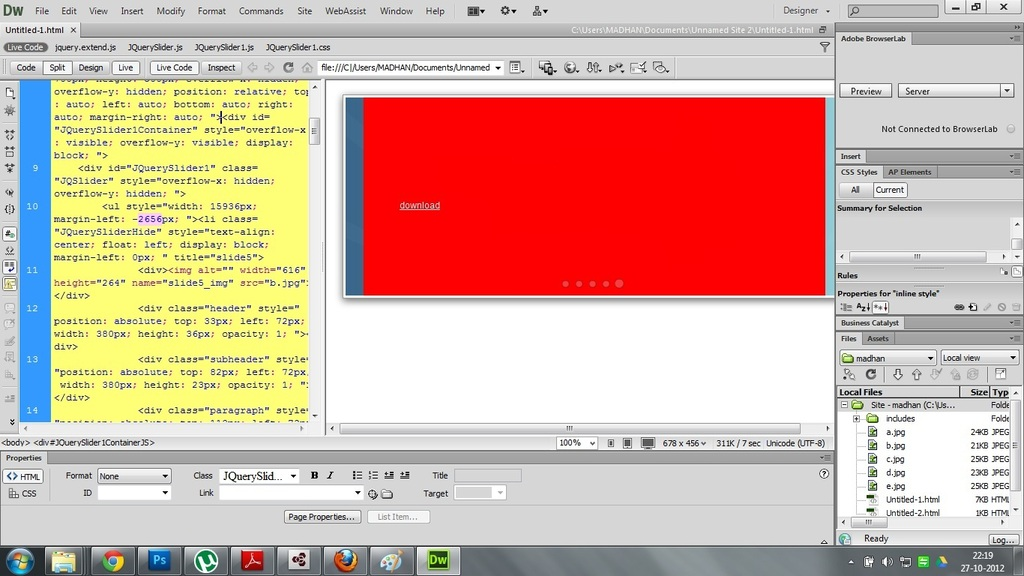 how to build a website with dreamweaver cs6