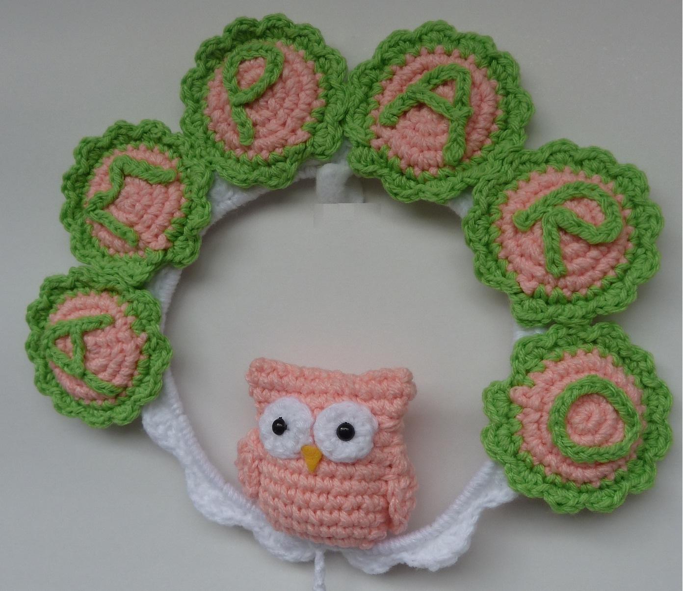 Cartel de Nacimiento / Bienvenida al crochet