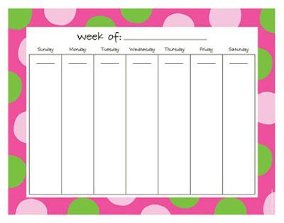 Cute Weekly Schedule Template Designs weekly schedule