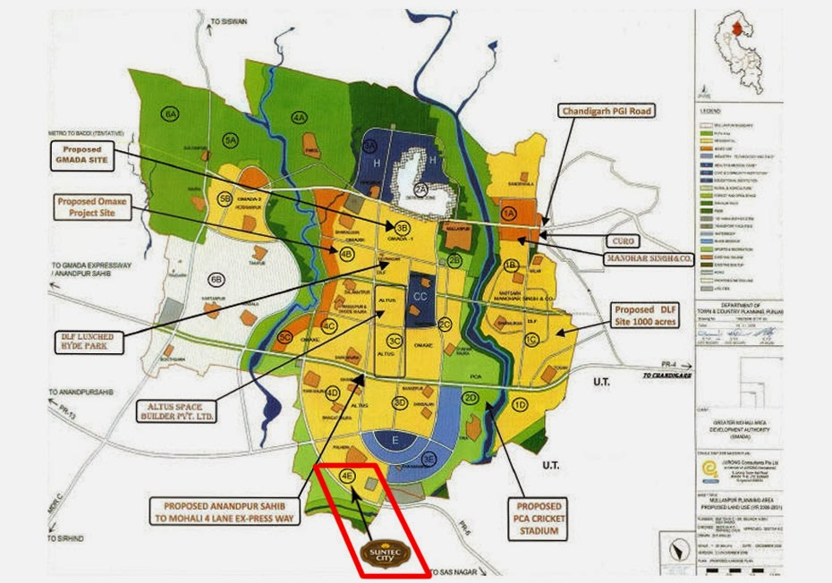 suntec city location in mullanpur master plan