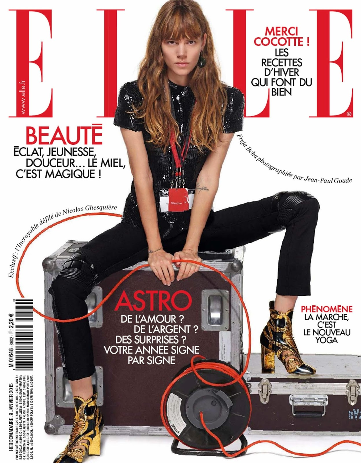 arts cross stitch freja beha erichsen elle france astro 2015. Black Bedroom Furniture Sets. Home Design Ideas