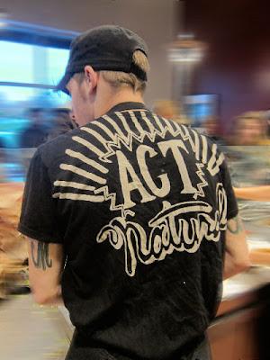 """Chipotle T-shirt """"act natural"""""""