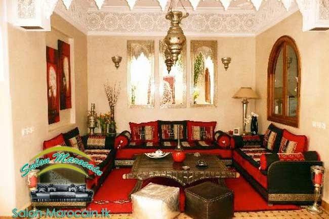 salon marocain red night