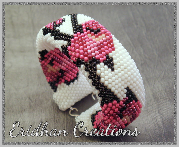 Crochet Patterns With Beads : Eridhan Creations - Beading Tutorials: Beaded crochet bracelets