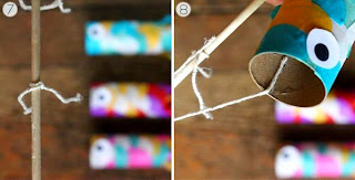 Cara Membuat Kerajinan Tangan Yang Mudah Untuk Anak SD, Ikan Terbang 5