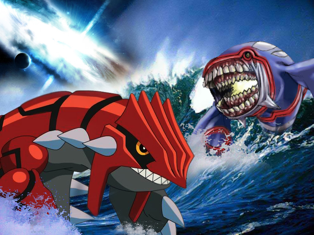 Art and design graphic images pokemon kyogre vs groudon picture wallpapers - Pictures of groudon and kyogre ...