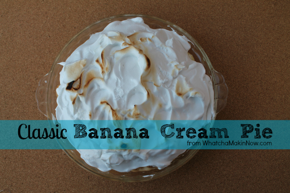 Classic Banana Cream Pie with Meringue Topping