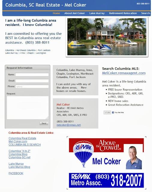 Columbia SC real estate website