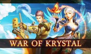 Screenshots of the War of Krystal for Android tablet, phone.