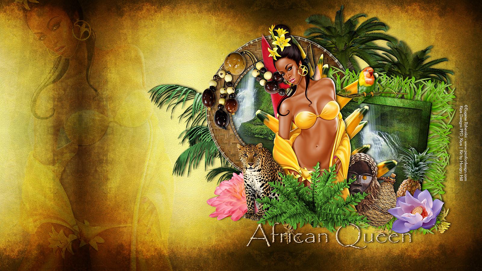 Kiya Designs Ptu African Queen Wallpaper