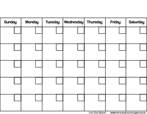 Lion Cub School: Freebie Friday - Calendar Printable and Projects ...