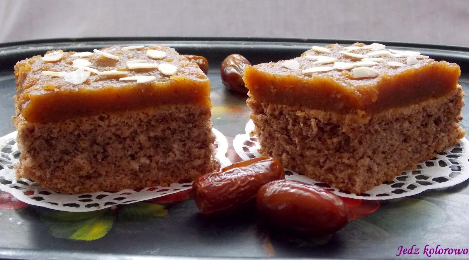 ciasto migdałowo-daktylowe