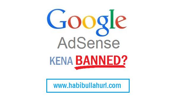 Penyebab Google AdSense Dibanned