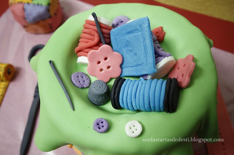 Son las tartas de Desti: Tarta Costurero