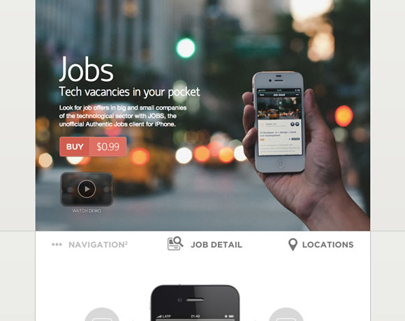 Jobs iphone app website