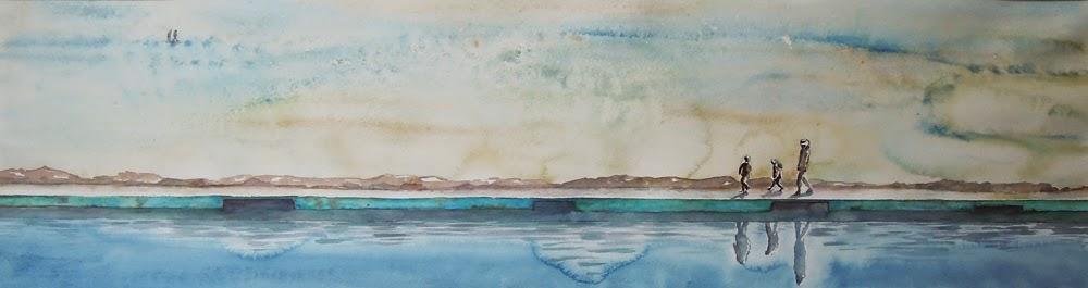 Fanny dreveau artiste peintre au bord de la piscine sur for Au bord de la piscine