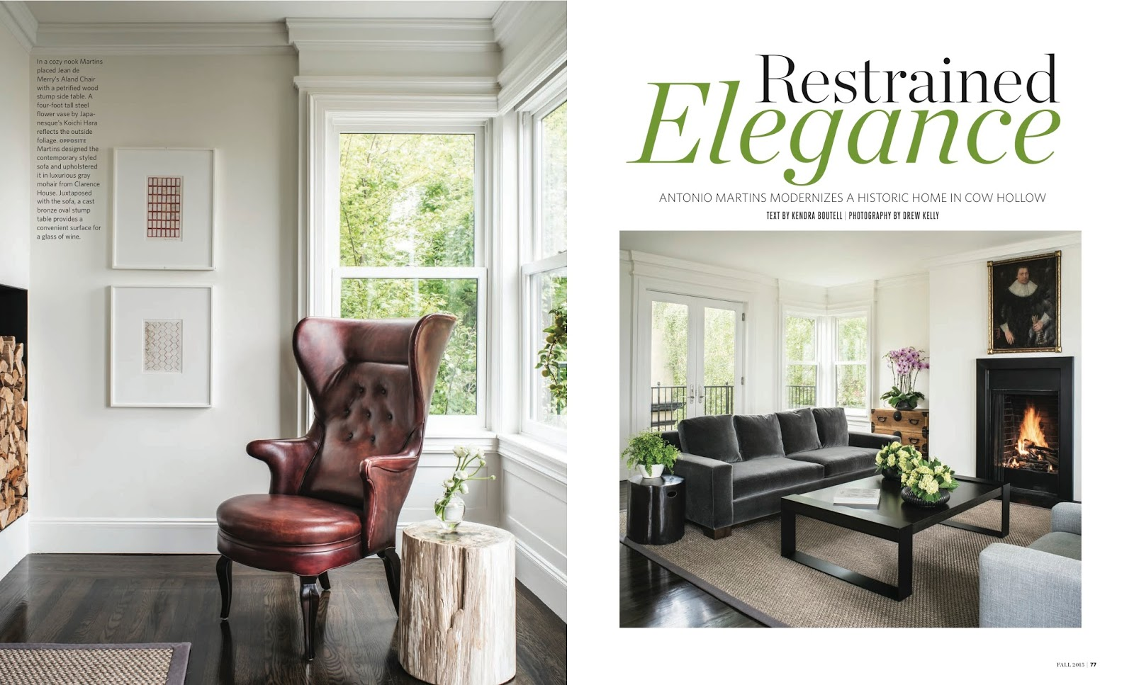 Restrained Elegance California Homes Magazine Fall 2015