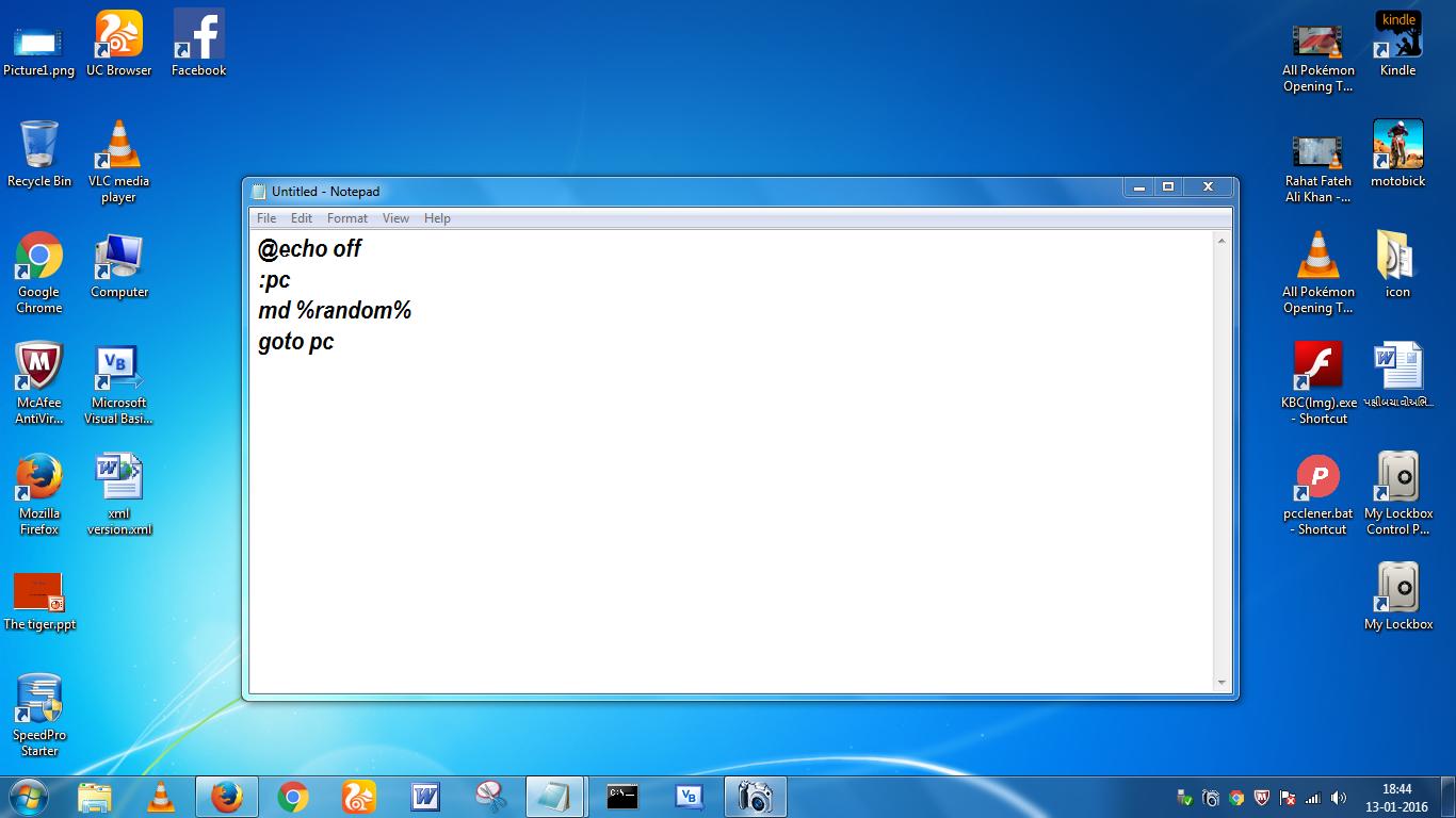 Как создать BAT файл или вирус в блокноте? - Компьютерный блог 907