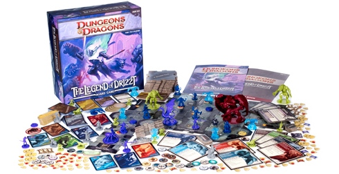Legend of Drizzt Board Game Review box contents