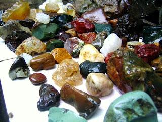 Semi Precious Gems in Klawing River