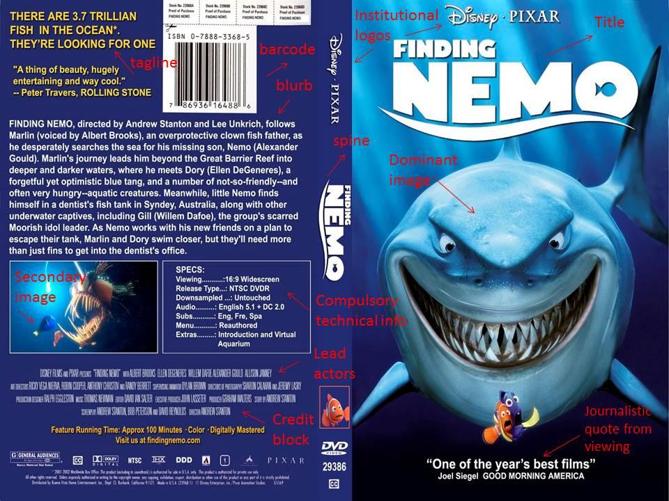 Good Morning Everyone Finding Nemo : Finding nemo dvd cover pixshark images