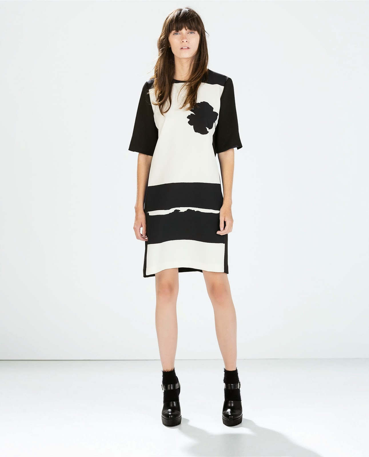 zara monochrome dress