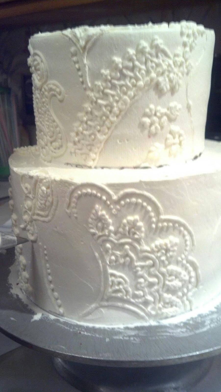 Frosted Art: Embroidered Wedding Cake-by Leah