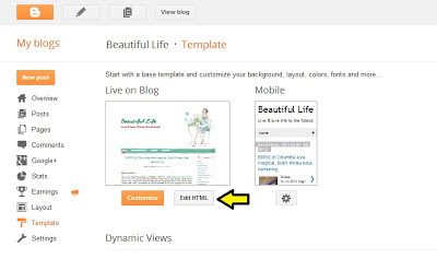 Changing from three-column to two-column blogger template
