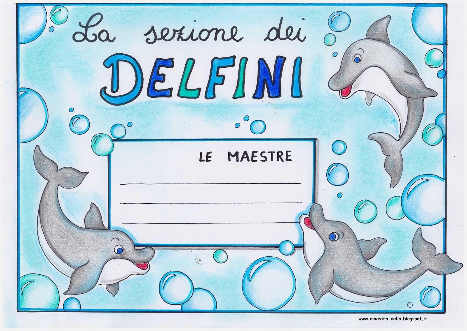 Per la porta della sezione cuccioli pesciolini passerotti gabbiani leoncini orsetti e delfini - B b porta di mare ...