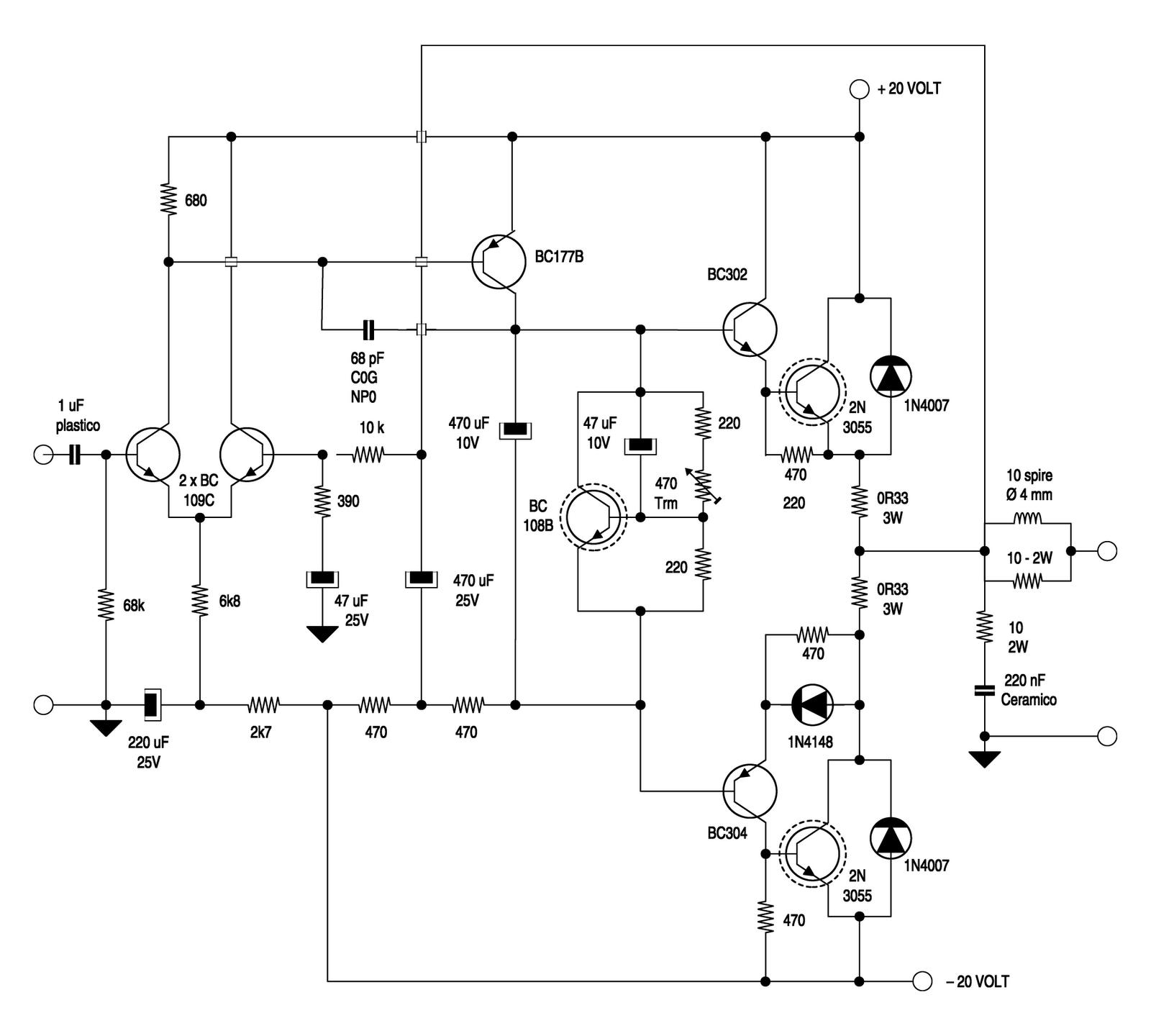 Schemi Elettrici Amplificatori Audio Con N : Elettronica audio i progetti lesa nuova vita per