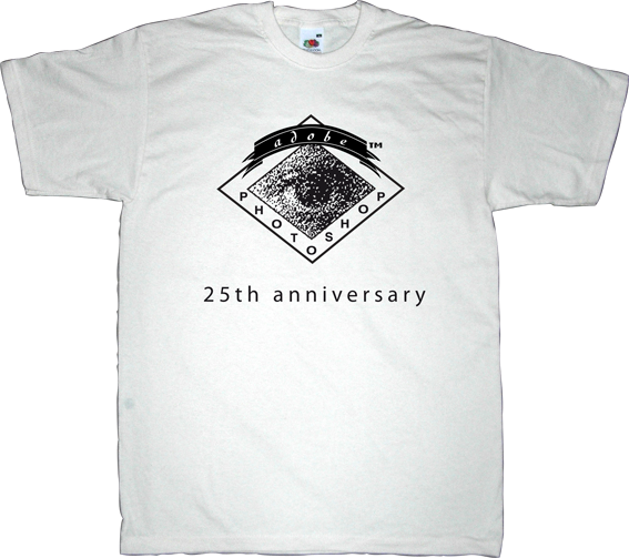 adobe photoshop anniversary photography macintosh t-shirt ephemeral-t-shirts