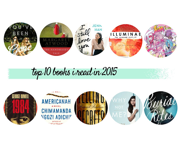 Top Ten Books I Read in 2015 Collage