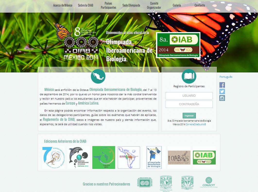 VIII OLIMPIADA IBEROAMERICANA DE BIOLOGÍA OIAB MÉXICO 2014.