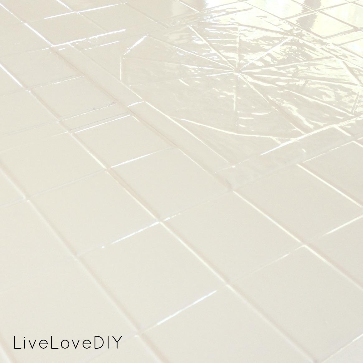 livelovediy how to paint tile countertops. Black Bedroom Furniture Sets. Home Design Ideas