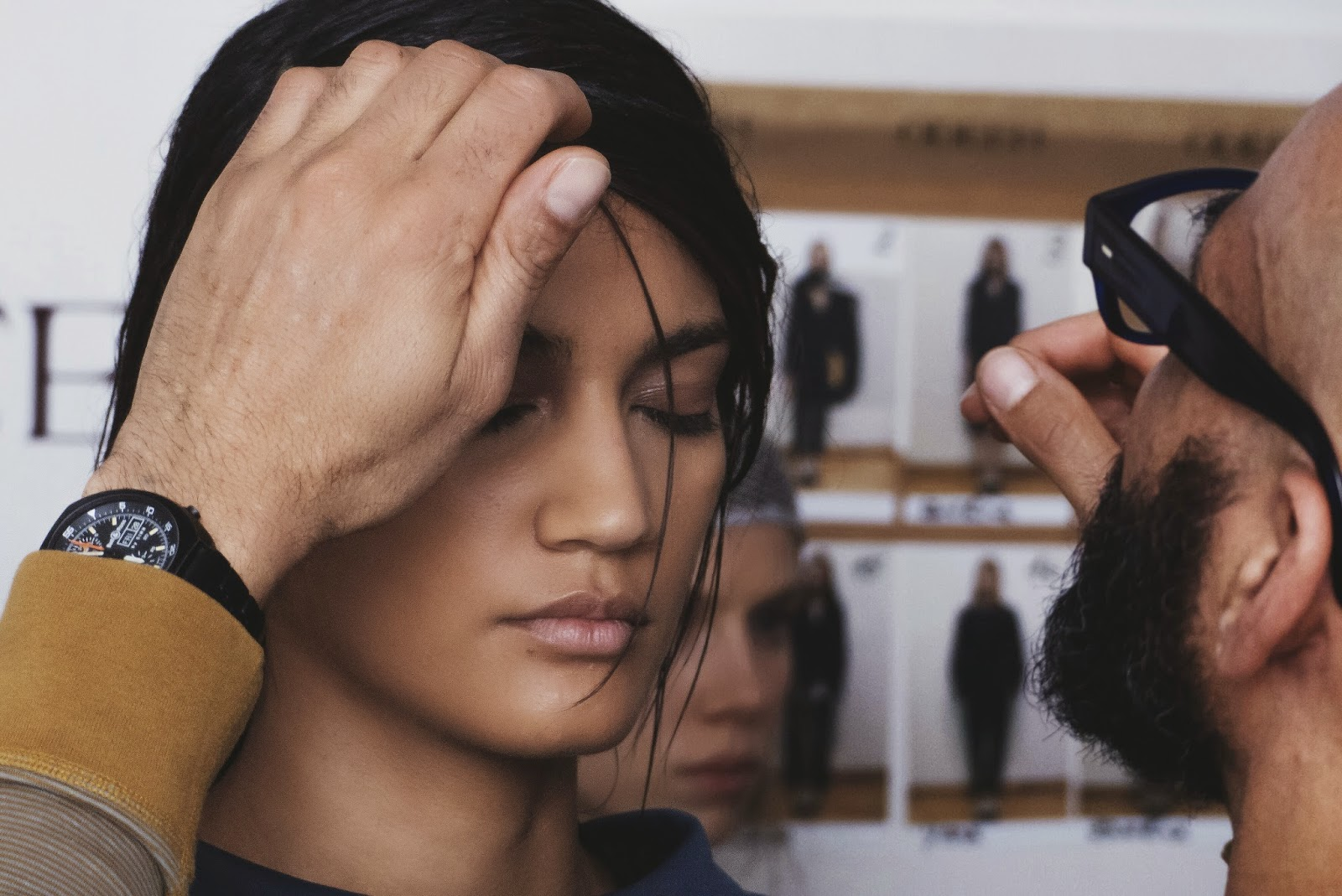 HAIR ODEEH FALL-WINTER 2014 BACKSTAGE PARIS FASHION WEEK READY-TO-WEAR