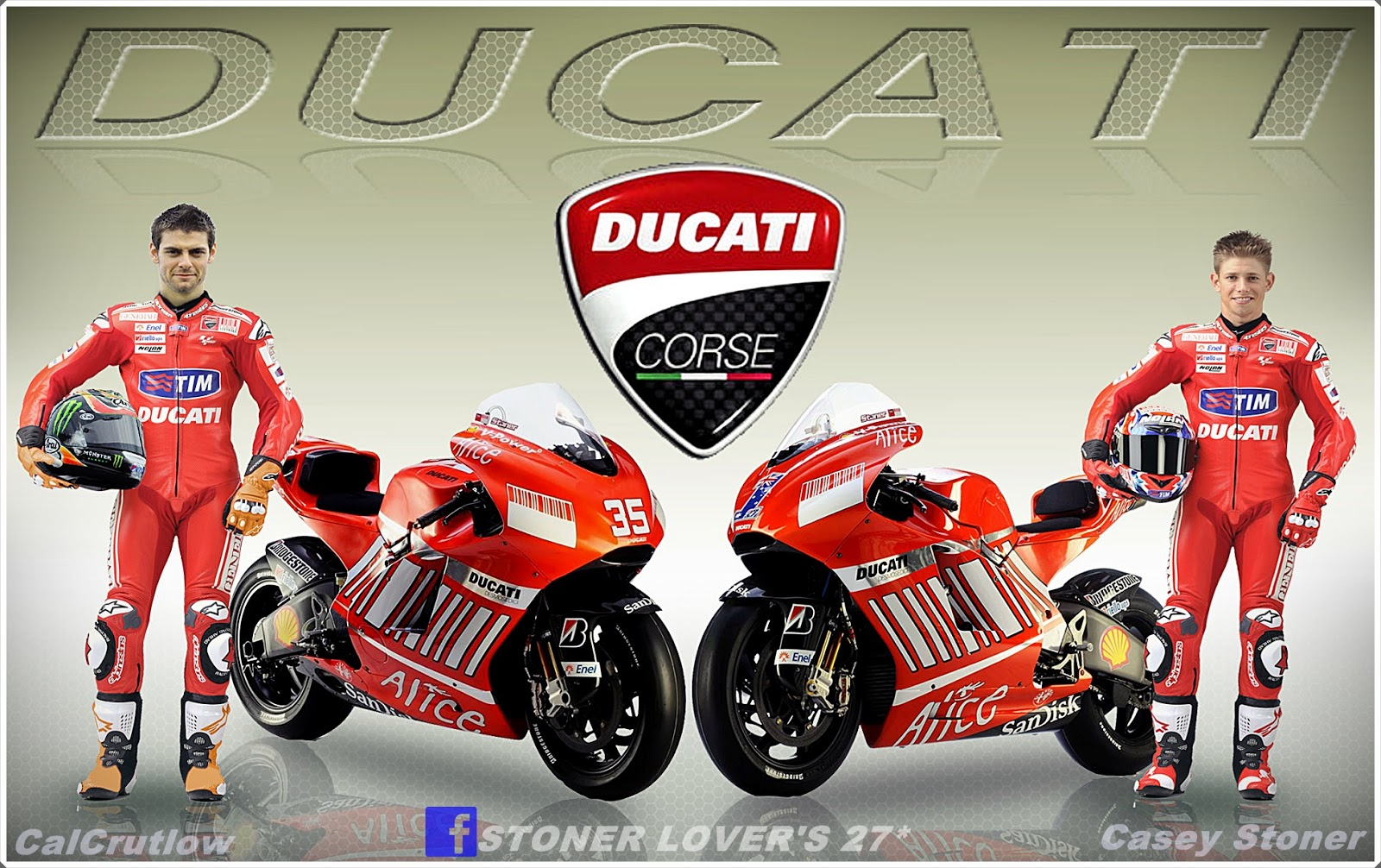 Redi Stoner Wallpaper Hd Calcrutchlow And Casey Stoner Ducati Team